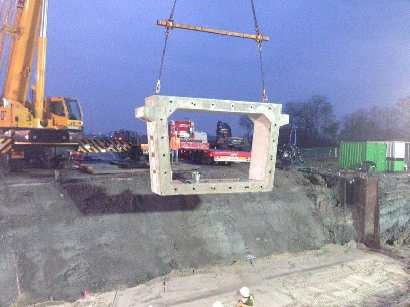 Betonbouw Fietstunnel
