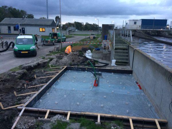 Fundering klaar voor de betonstort