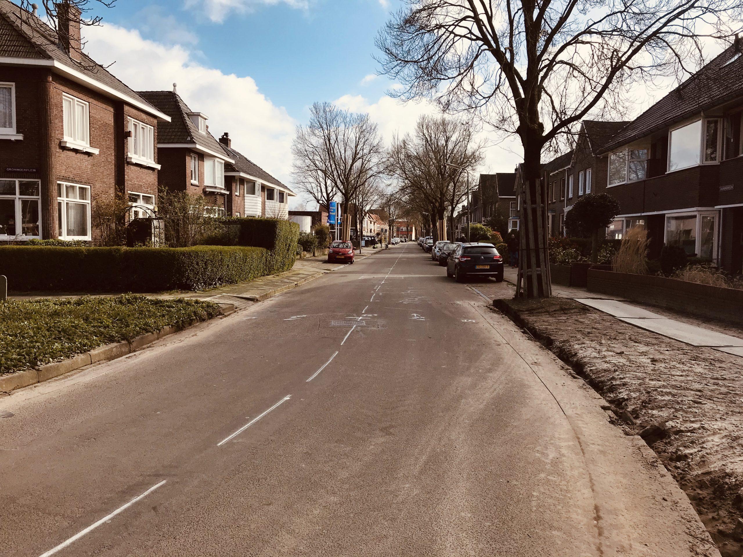Fietsstraat Tjerk Hiddesstraat Leeuwarden