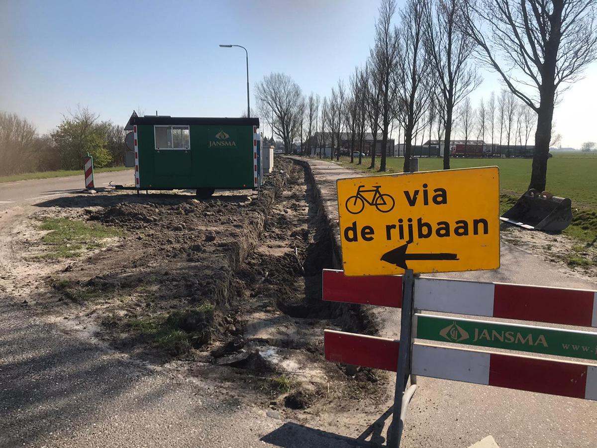 Fietspad Asfalt Reduzum Wytgaard Gem. Leeuwarden April 2020 -1
