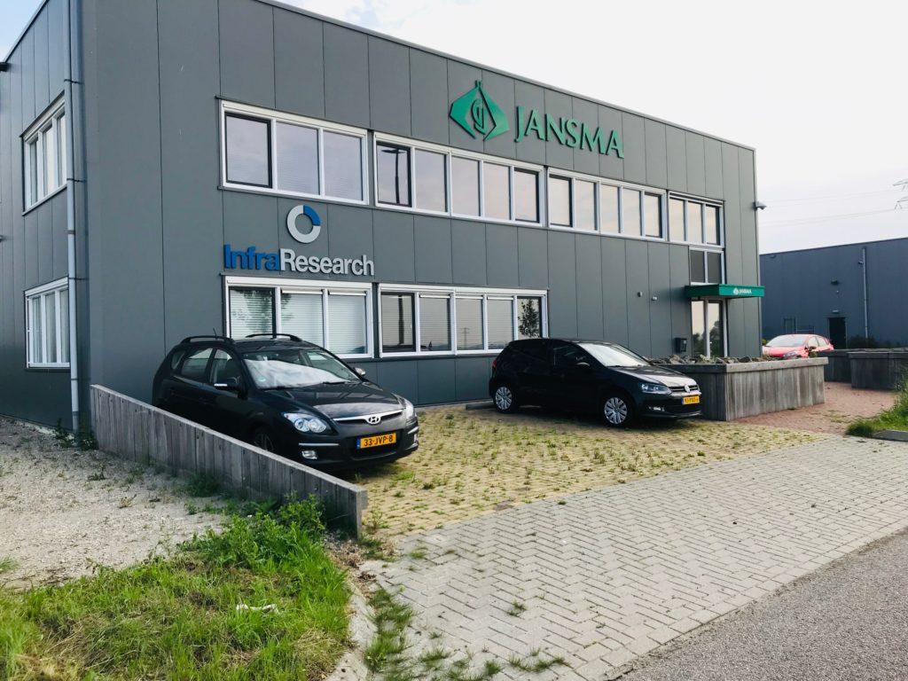 Te huur kantoorruimte kantoor Nobelweg 13 Leeuwarden - aangezicht pand