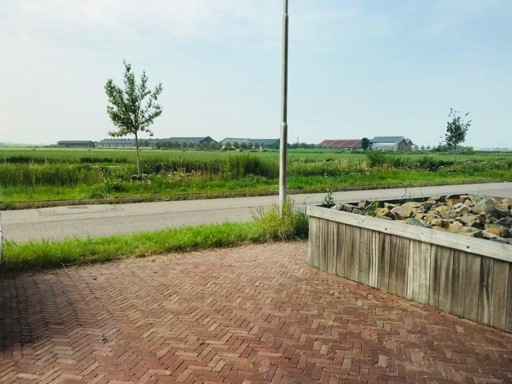 Te huur kantoorruimte kantoor Nobelweg 13 Leeuwarden - uitzicht pand