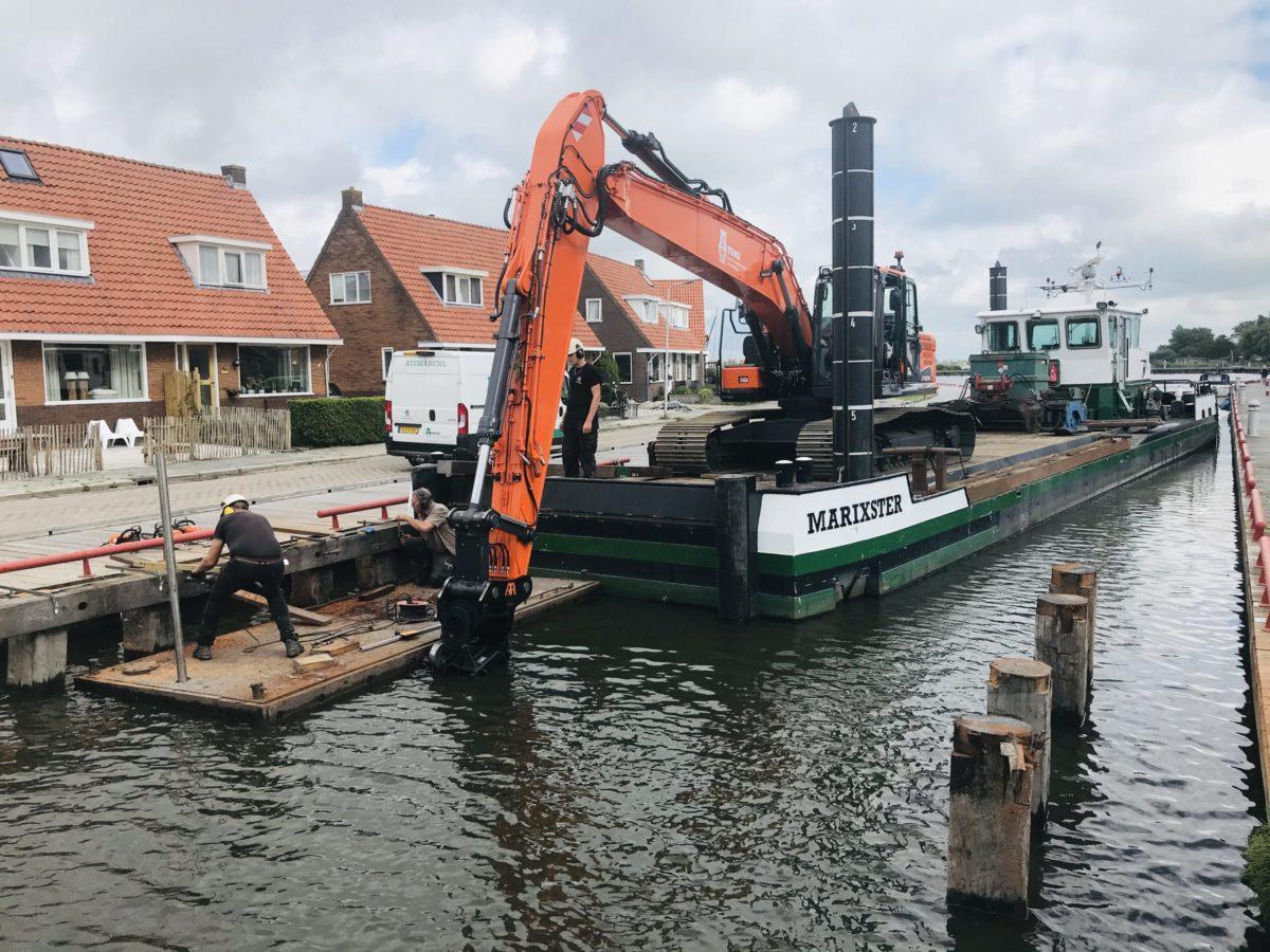 Bouw Noodbrug Meersweg Grou September 2020 1 (2)