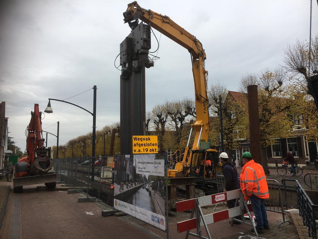 Omrop Fryslân Te Gast Bij Project Kadevervanging De Luts In Balk