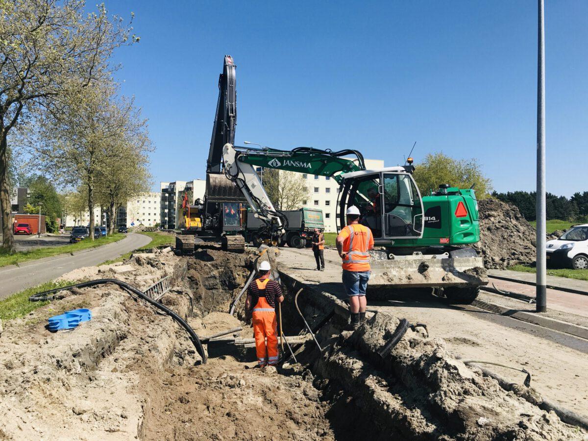Voortgang Werkzaamheden Aanleg Persleiding Siersteenlaan In Groningen (Waterslagtracé 3).